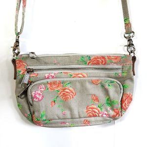 PINK VS floral crossbody